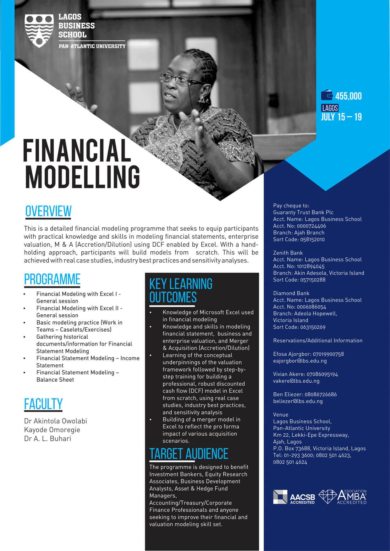 Financial Modelling | Lagos Business School